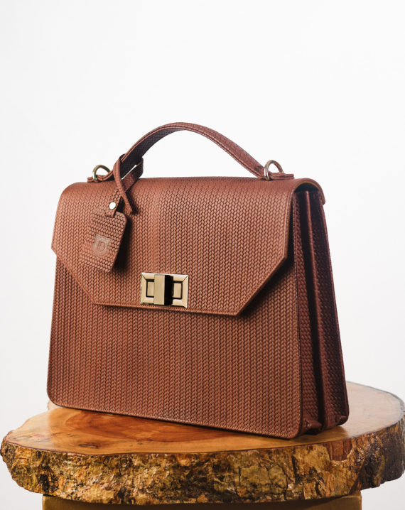 Brown Fome Unisex Handcrafted Leather Briefcase