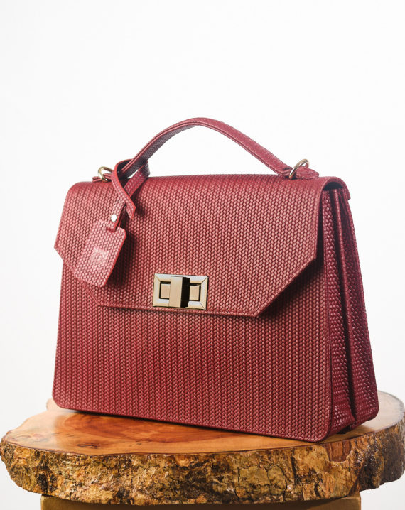 Burgundy Fome Unisex Handcrafted Leather Briefcase