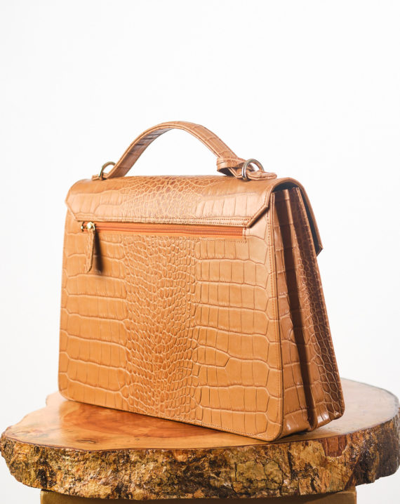 Tan Fome Leather Briefcase