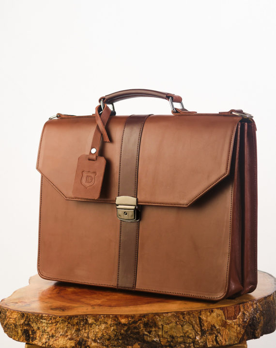 Brown Naju Leather Briefcase