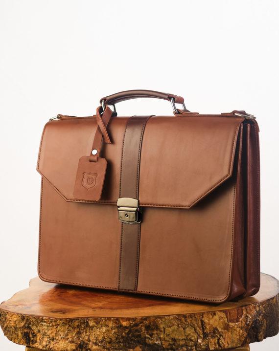 Brown Naju Leather Briefcase