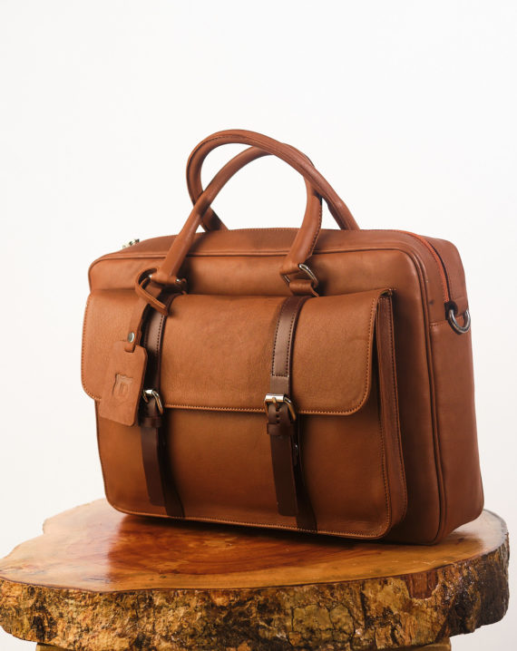 Brown Signature Briefcase